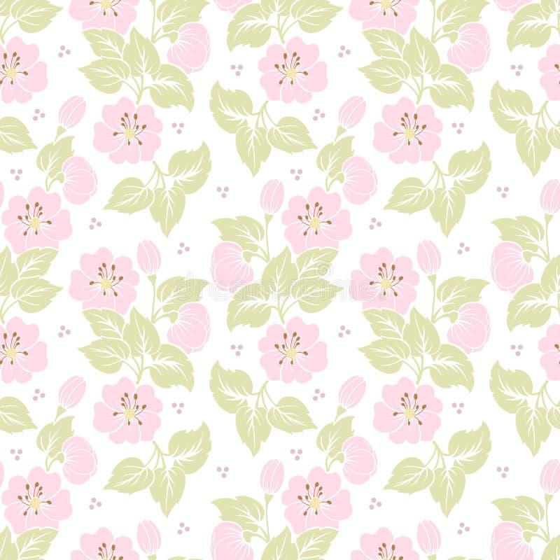 De vectorachtergrond van het bloem naadloze patroon Elegante textuur voor achtergronden royalty-vrije illustratie