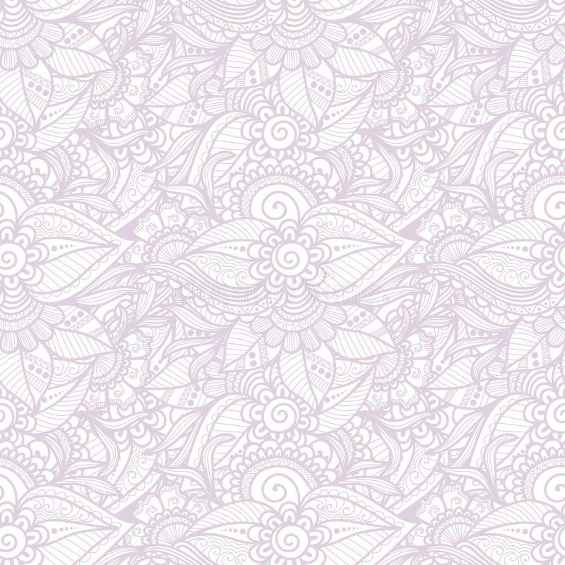De vectorachtergrond van het bloem naadloze patroon Elegante textuur voor achtergronden stock illustratie