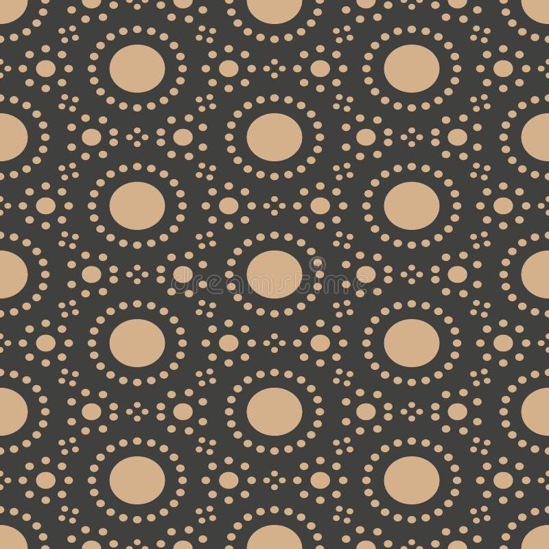 De vectorachtergrond van het damast naadloze retro patroon om de meetkundekader van de puntlijn Het elegante ontwerp van de luxe  stock illustratie