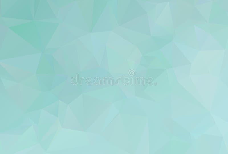 De vectorachtergrond van de Veelhoek Abstracte moderne Veelhoekige Geometrische Driehoek Blauwe Geometrische Driehoeksachtergrond royalty-vrije illustratie