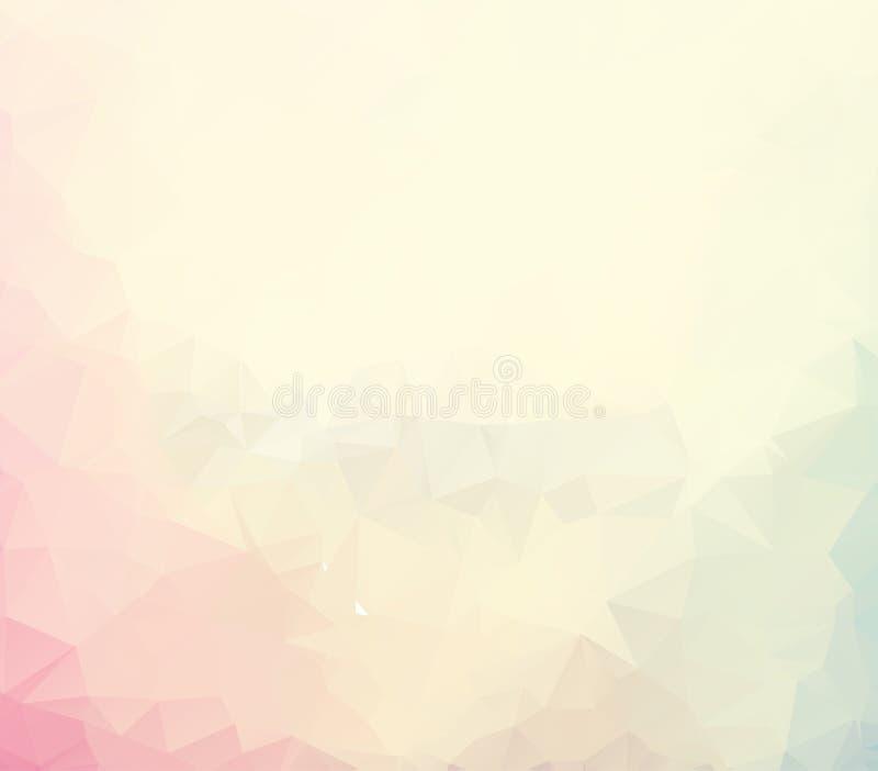 De vectorachtergrond van de Veelhoek Abstracte moderne Veelhoekige Geometrische Driehoek lichte Geometrische Driehoeksachtergrond stock illustratie