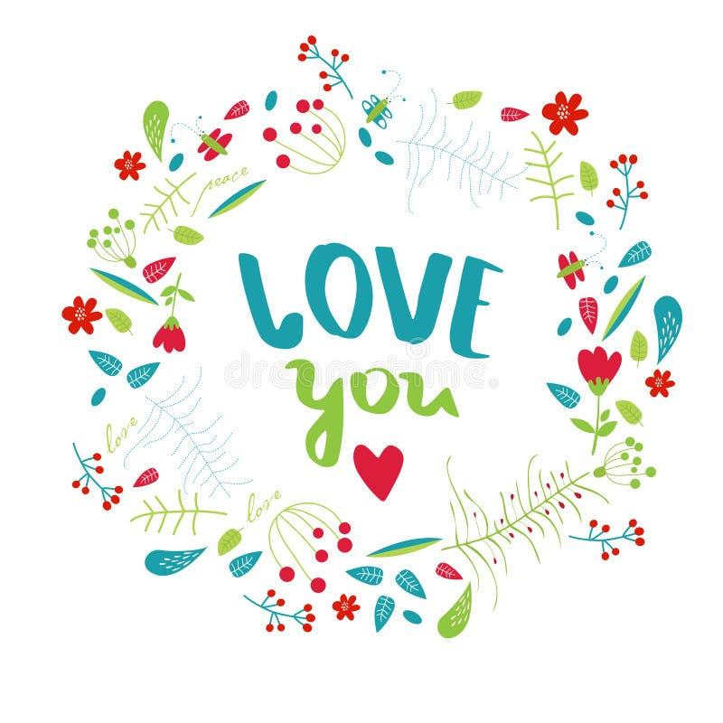 De vectoraffiche ` houdt van u `