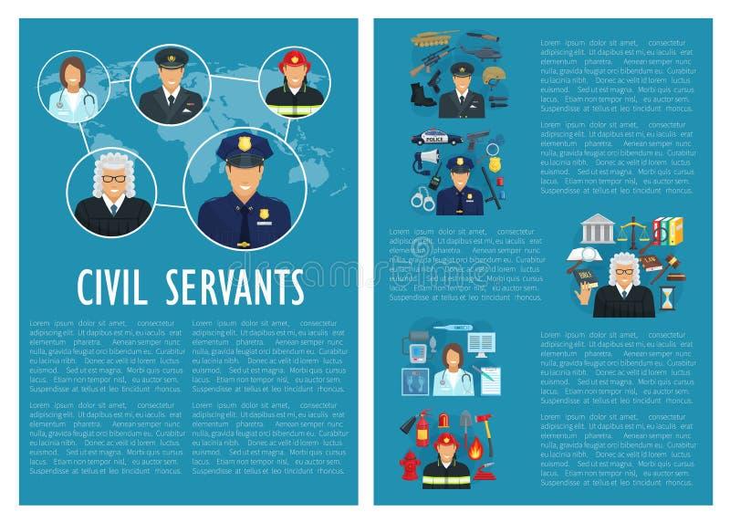 De vectoraffiche van de de politieluchtvaart van de ambtenarenrechter vector illustratie
