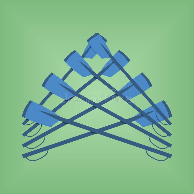 De vectorbeeldembleem het roeien sport van de clubkleur royalty-vrije illustratie