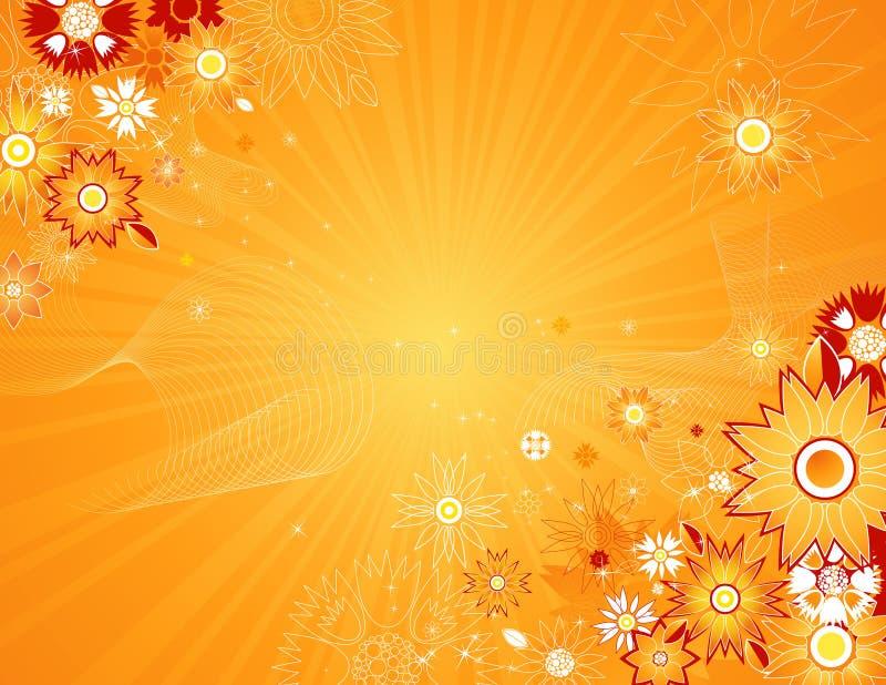 De vectorbloemen van de lente, vector vector illustratie