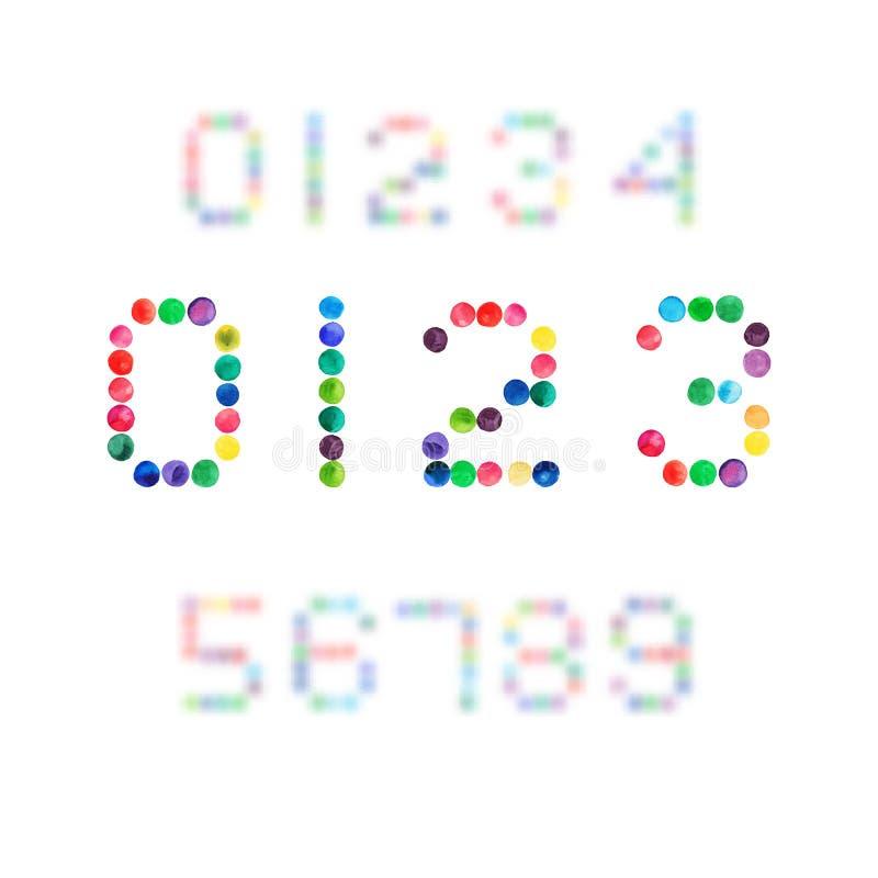 de vectordiewaterverf van 2015 logotype op witte achtergrond wordt geïsoleerd royalty-vrije illustratie