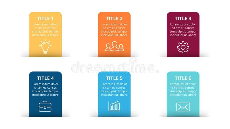 De vectordocument infographic pijlen, bannersdiagram, etiketteert grafiek, de grafiek van de stickerspresentatie Bedrijfsconcept  stock illustratie