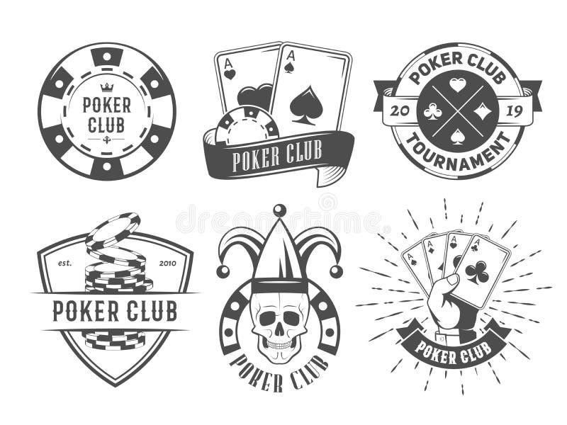 De vectoremblemen van de pookclub stock afbeelding
