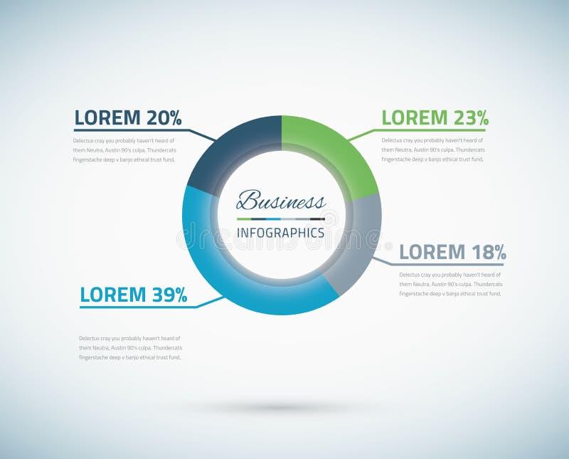 De vectoreps10 illustratie van het Infographiccirkeldiagram vector illustratie