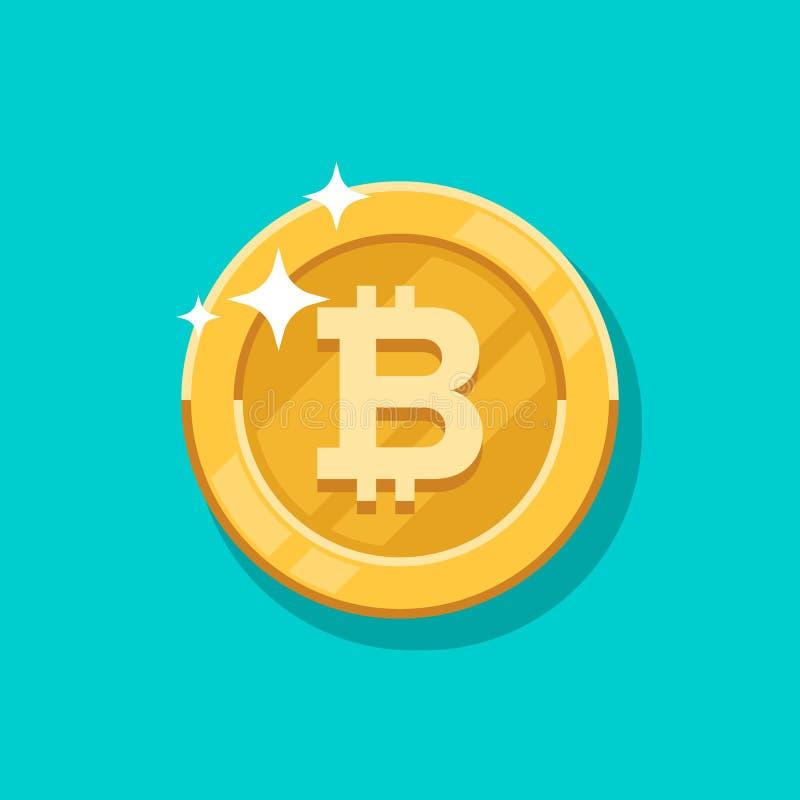 De vectorgroei bitcoin Voor een digitaal geld van Bitcoin, cryptocurrencysysteem Crypto symbool van het munt het gouden muntstuk  stock illustratie
