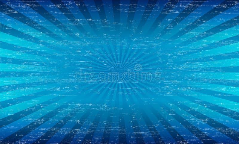 De vectorgrungezonnestraal pattren geweven achtergrond stock illustratie