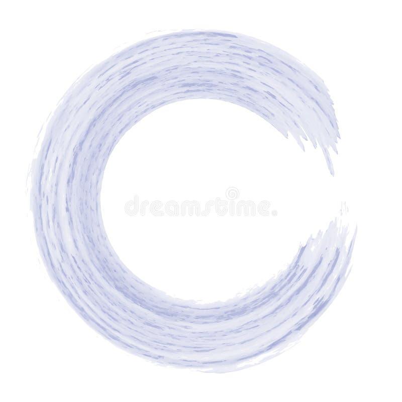 De vectorhand schilderde waterverf het schilderen - lavendel purpere viooltje gekleurde die ring op witte achtergrond wordt geïso royalty-vrije illustratie