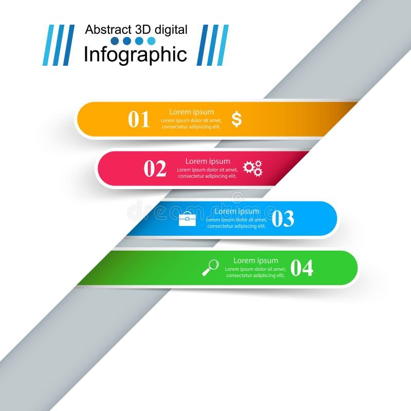 De Vectorillustratie origamistijl van de de bedrijfs van Infographics royalty-vrije illustratie