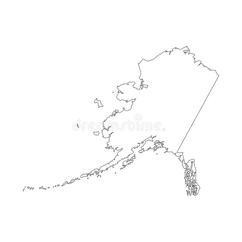 De Vectorillustratie van Alaska royalty-vrije illustratie