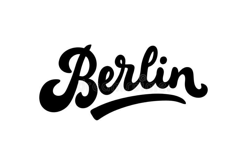 De vectorillustratie van Berlijn, Duitsland, het van letters voorzien royalty-vrije illustratie