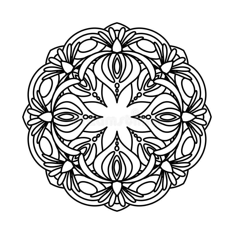 De vectorillustratie van bloemmandala vector illustratie