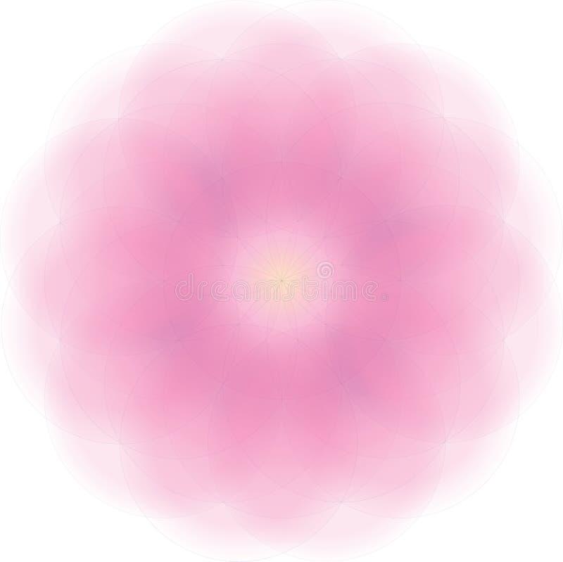 de vectorillustratie van bloemmandala met zeer zachte gradiënt stock foto's