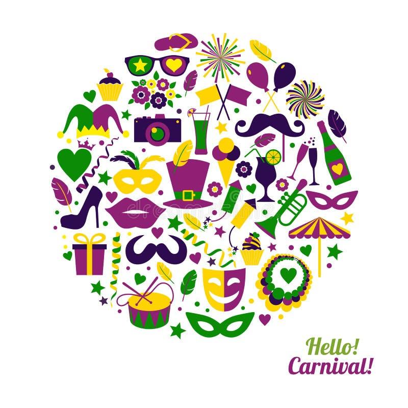 De vectorillustratie van Carnaval royalty-vrije illustratie