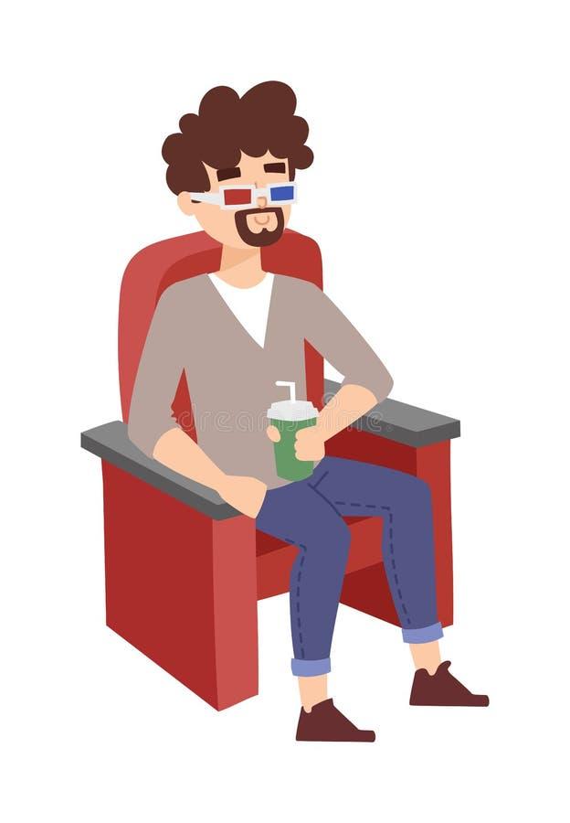 De vectorillustratie van de bioskoopjongen royalty-vrije illustratie