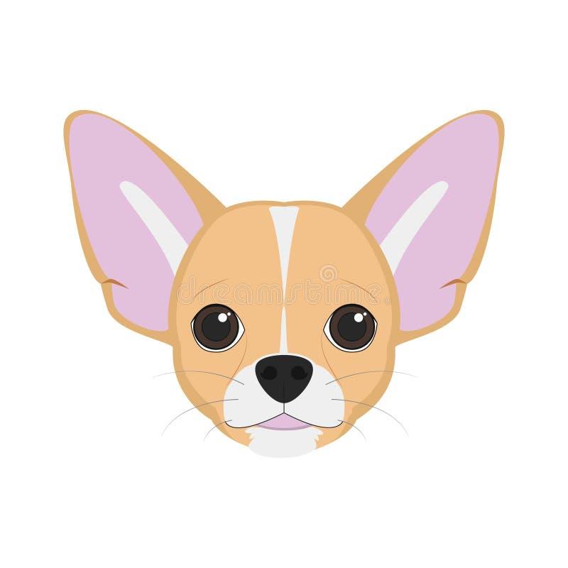De vectorillustratie van de Chihuahuahond stock illustratie