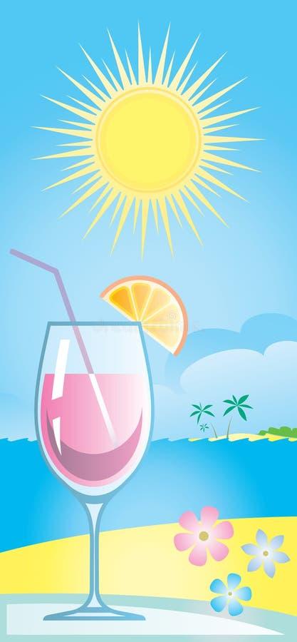 De VectorIllustratie van de cocktail stock illustratie