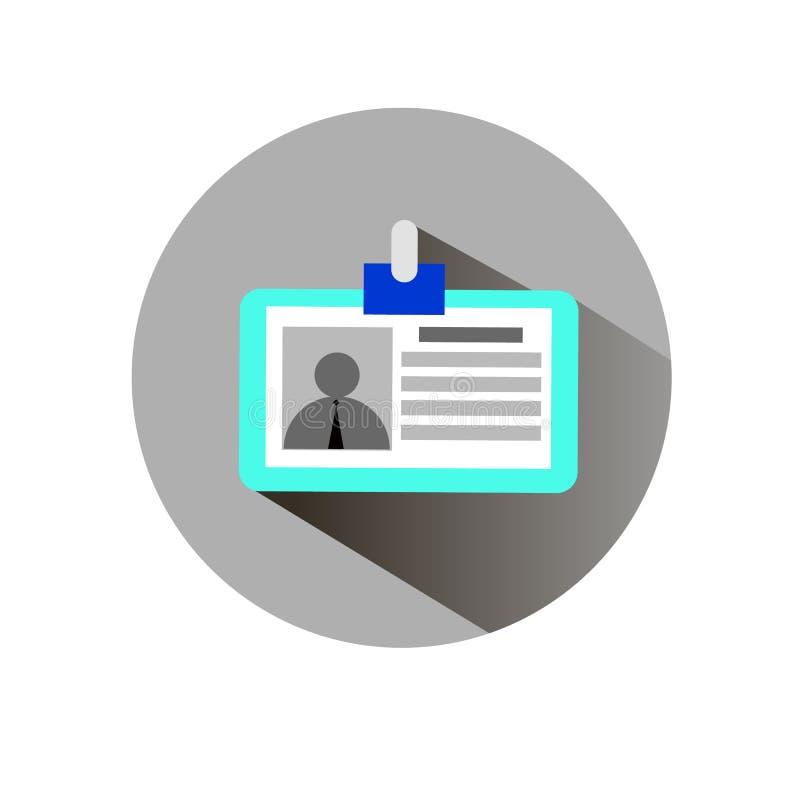 De vectorillustratie van de de identificatieveiligheid van de fotonaam vector illustratie