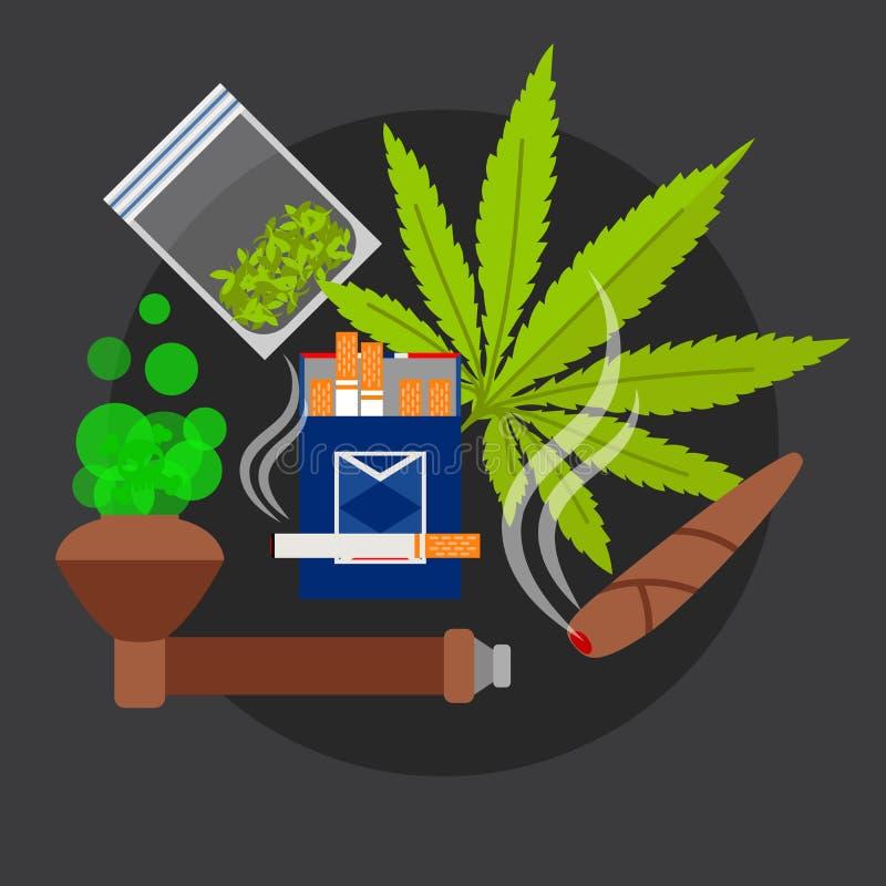 De vectorillustratie van de drugsaffiche vector illustratie