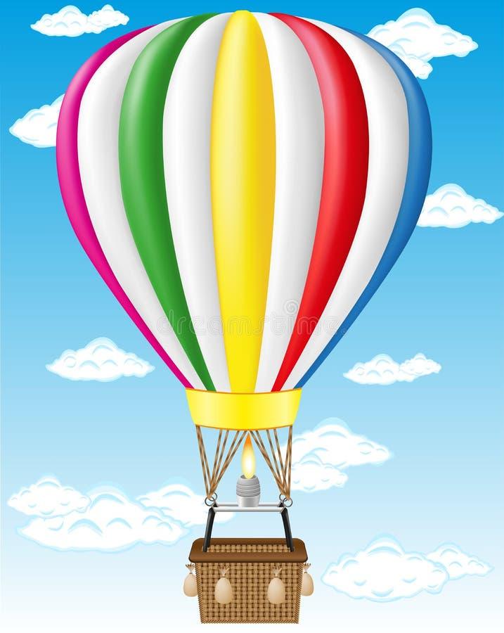 De vectorillustratie van de hete luchtballon vector illustratie