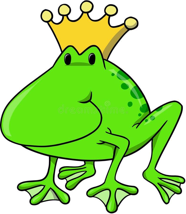 De VectorIllustratie van de koning van de kikker stock illustratie
