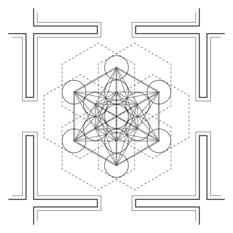 de vectorillustratie van de mandala heilige meetkunde stock illustratie