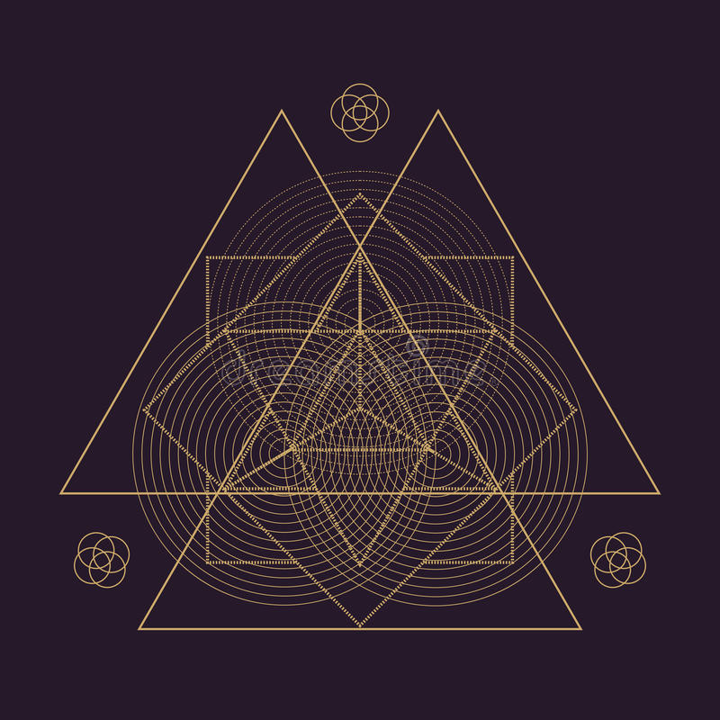de vectorillustratie van de mandala heilige meetkunde royalty-vrije illustratie
