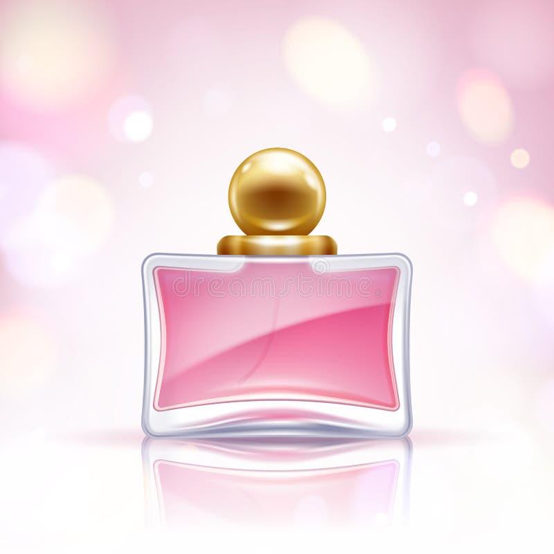 De vectorillustratie van de parfumfles Eau DE parfum vector illustratie