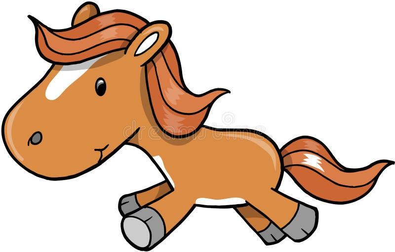 De VectorIllustratie van de Poney van het paard stock illustratie