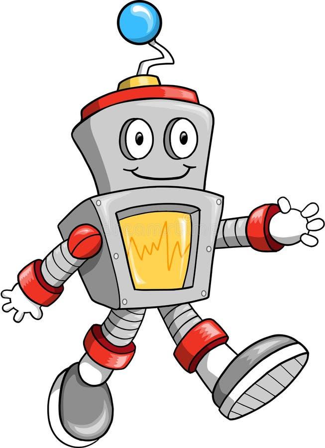 De VectorIllustratie van de robot vector illustratie
