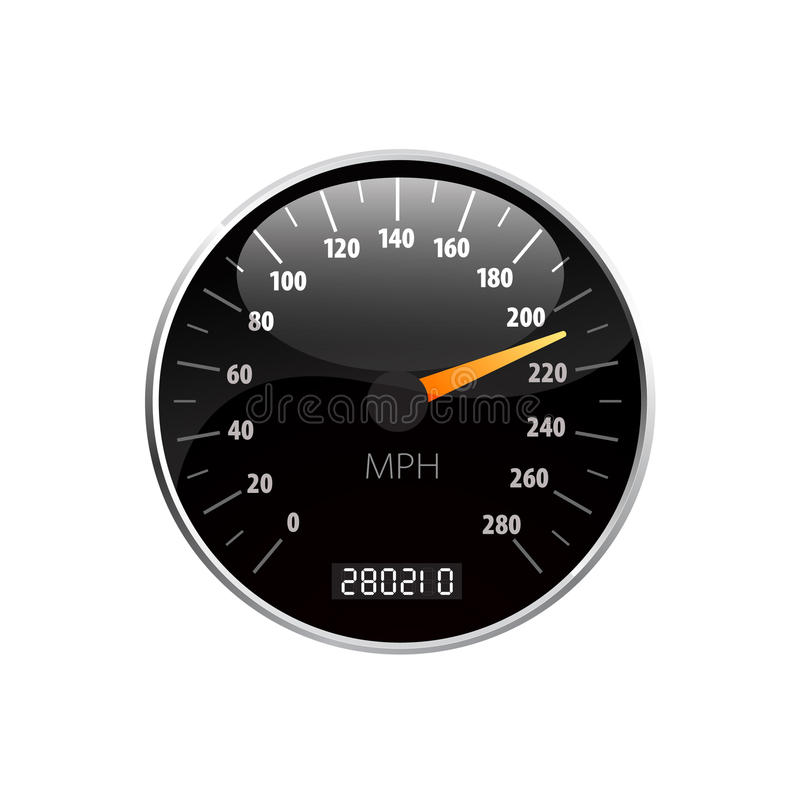 De vectorillustratie van de snelheidsmeter stock illustratie