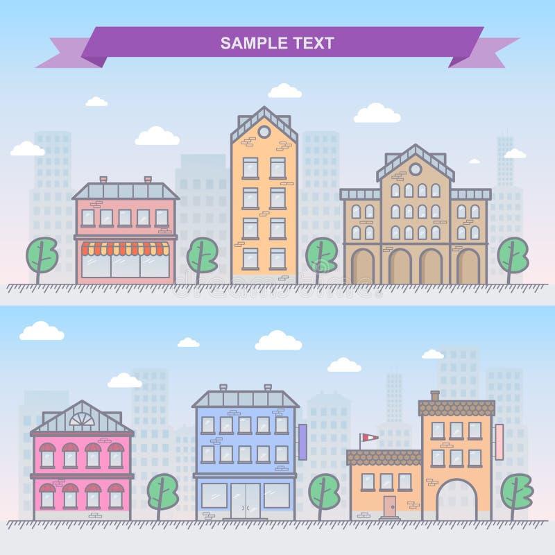 De vectorillustratie van de stad stock illustratie