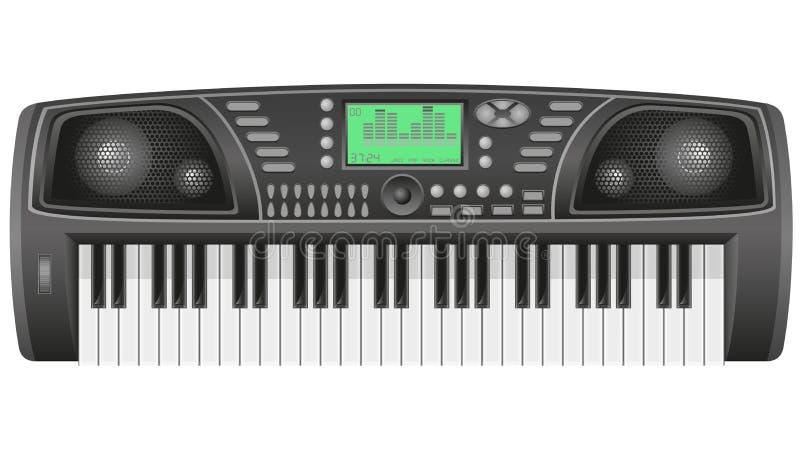 De vectorillustratie van de synthesizer stock illustratie