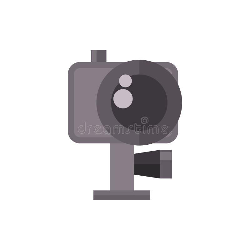 De vectorillustratie van de videocameraactie camcorder royalty-vrije illustratie
