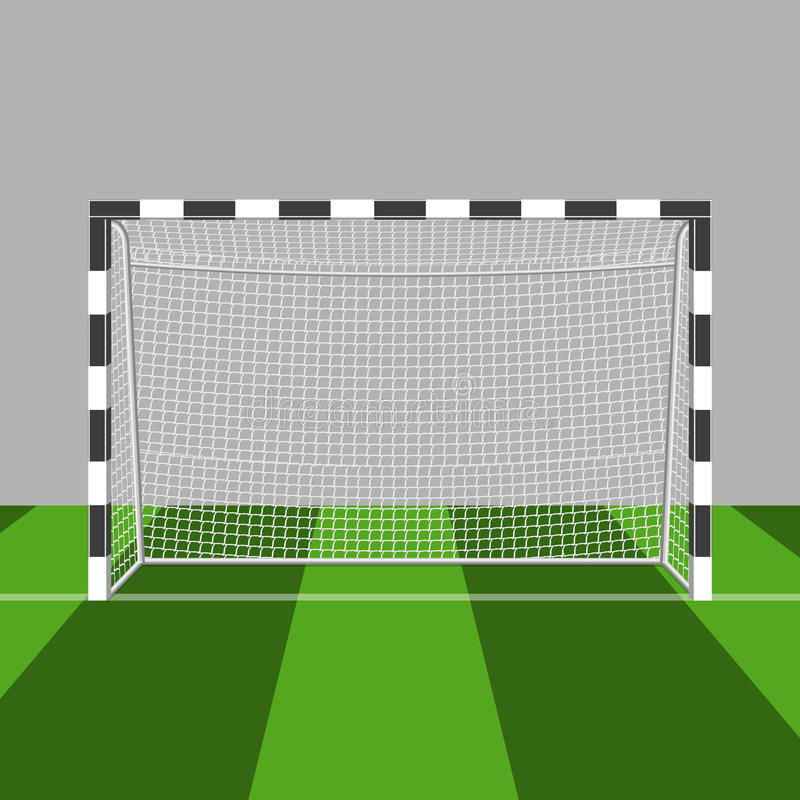 De vectorillustratie van de voetbalpoort op witte achtergrond stock illustratie