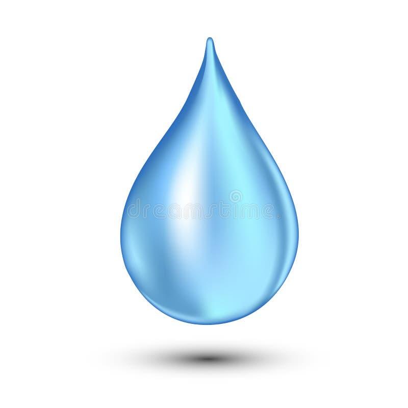 De vectorillustratie van de waterdaling Maak op wit schoon falling stock illustratie