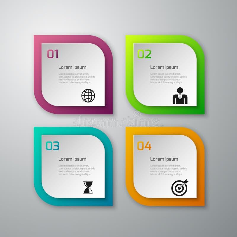 De vectorillustratie van document regelt infographics stock illustratie