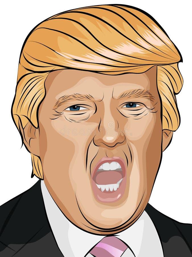 De vectorillustratie van Donald Trump vector illustratie
