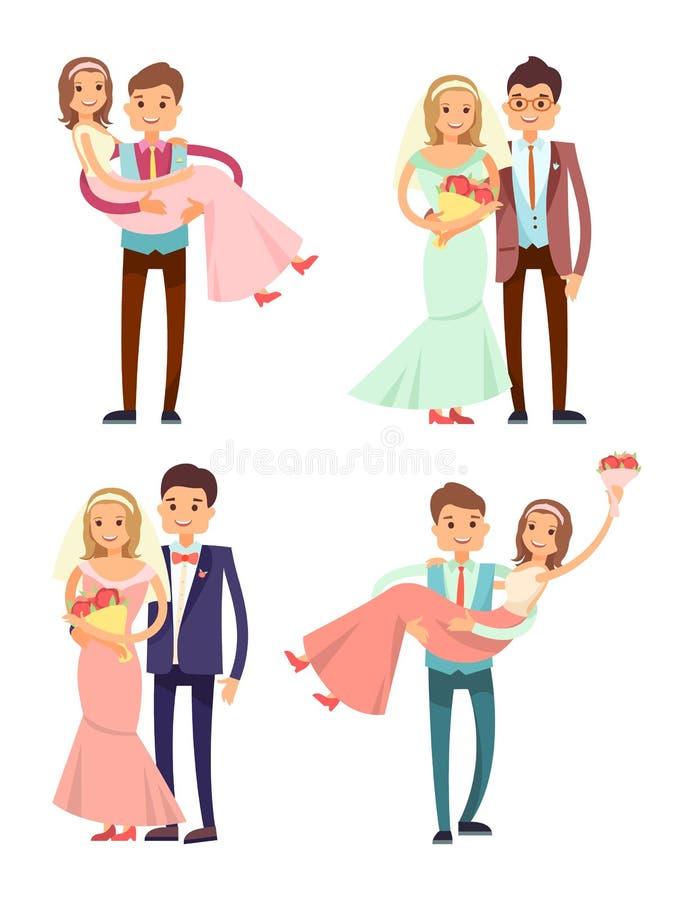 De Vectorillustratie van de echtpareninzameling vector illustratie