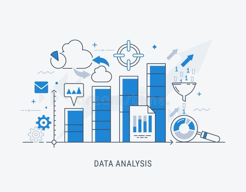 De vectorillustratie van de gegevensanalyse stock illustratie