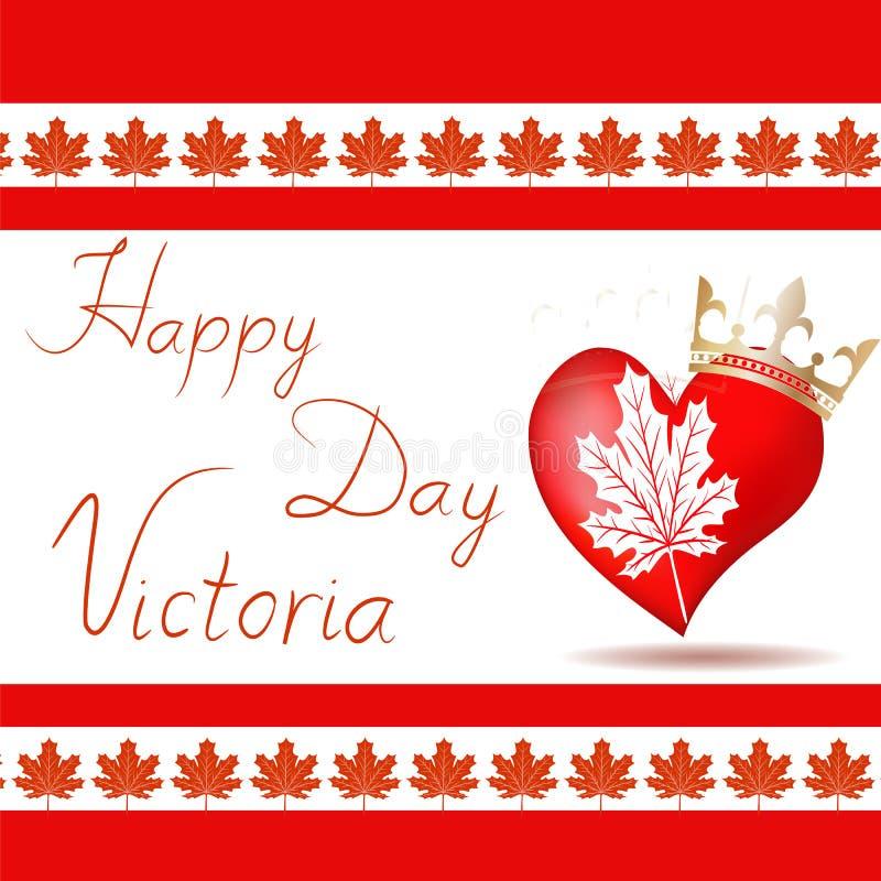 De vectorillustratie van Gelukkig viert Victoria Day royalty-vrije illustratie