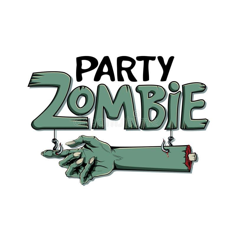 De vectorillustratie van Halloween Uitnodiging voor zombiepartij royalty-vrije illustratie