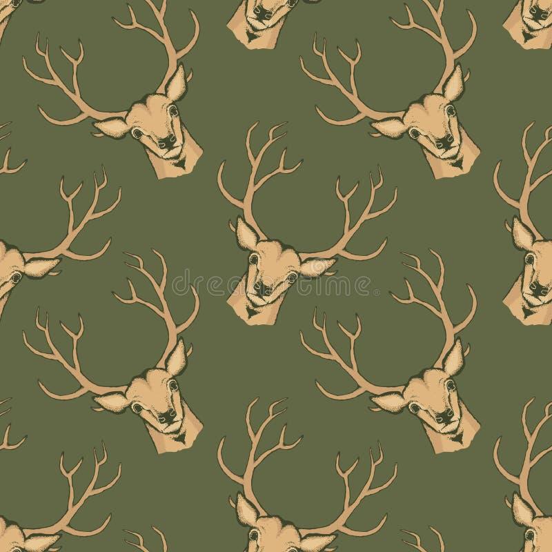De vectorillustratie van herten royalty-vrije illustratie