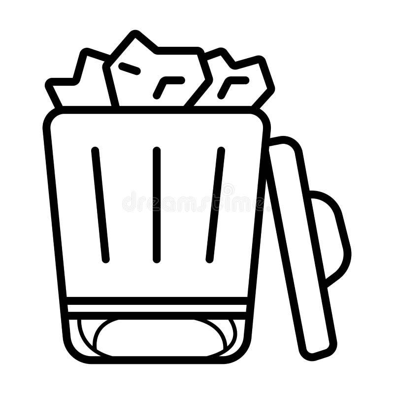 De Vectorillustratie van het afvalpictogram stock illustratie