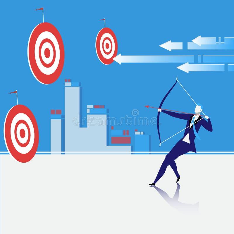 De vectorillustratie van het bedrijfsdoelconcept stock illustratie