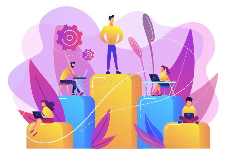 De vectorillustratie van het bedrijfshiërarchieconcept vector illustratie